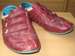 Кроссовки перед покраской