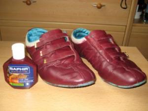 Покраска кроссовок Saphir juvacuir