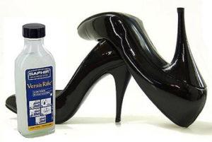 Полироль для лаковой обуви Saphir Vernis rife. Полироль в стеклянной бутылочке