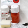 Краска для кожи Tarrago A01 с очистителем. Краска для кожи в стеклянной бутылочке.