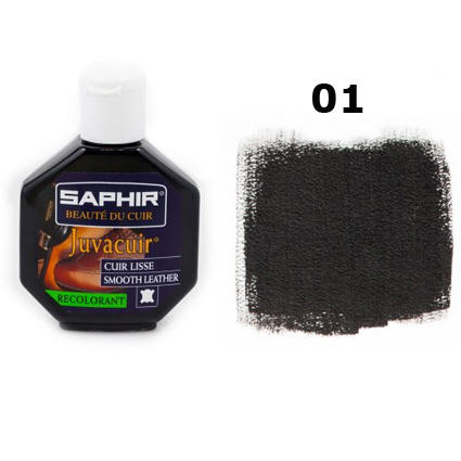 Крем-краска для кожи Saphir Juvacuir черная