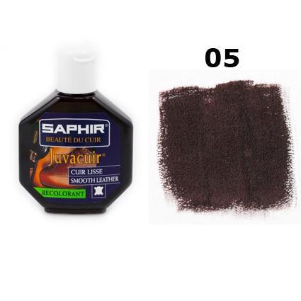 Крем-краска для кожи Saphir Juvacuir темно-коричневая