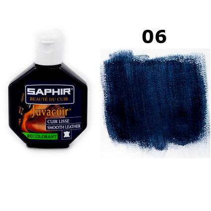 Крем-краска для кожи Saphir Juvacuir темно-синяя