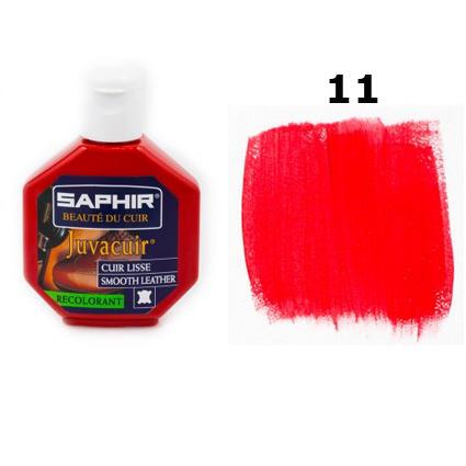 Крем-краска для кожи Saphir Juvacuir красная