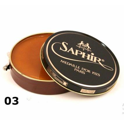 Полировочная паста для обуви Saphir pate de luxe светло-коричневая