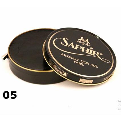 Полировочная паста для обуви Saphir pate de luxe темно-коричневая