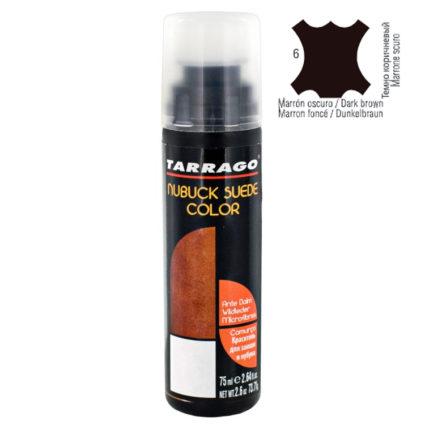 Краска для замши нубука Tarrago suede nubur color темно-коричневая