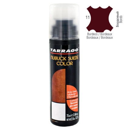 Краска для замши нубука Tarrago suede nuburk color бордовый