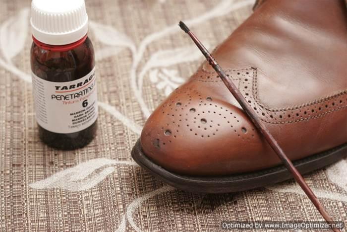 Покраска обуви краской Tarrago