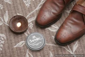 Обувь до полировки пастой Saphir