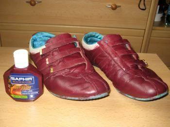 Кроссовки после устранения повреждений