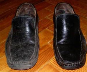 Обувь после обработки бальзамом