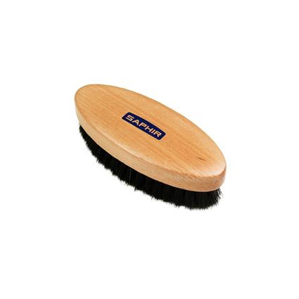 Щетка для чистки обуви Saphir. Щетка для обуви деревянная