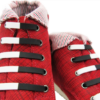 Шнурки силиконовые черно-белые