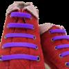 Шнурки силиконовые фиолетовые