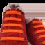 Шнурки силиконовые оранжевые