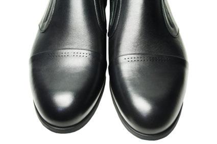 Черные кожаные туфли Икос на резинке