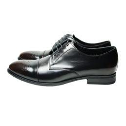Черные кожаные туфли Икос с патиной