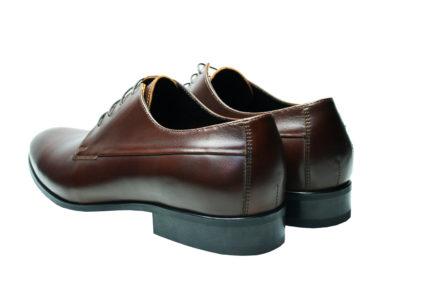 Мужские кожаные коричневые туфли Икос