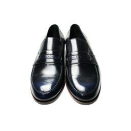 Кожаные мужские туфли Икос с патиной